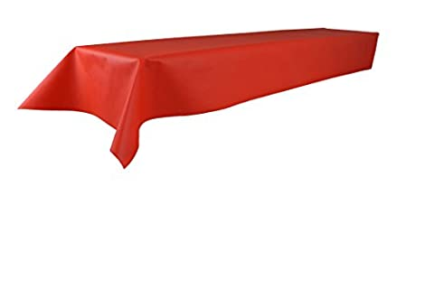 Sensalux Tischdecke, Öko-Tex 100, abwaschbar, (Farbe + Größe wählbar), rot, 1,2m x 2,5m, Bierzeltgarnitur, Tischtuch, Tischwäsche, stoffähnliches Vlies, Party, Catering, Vereinsfeier, (Papier Tischdecken Weihnachten)
