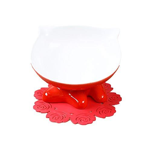 er aus der Umgebung - BOL en céramique Pour Chat,Red,M ()