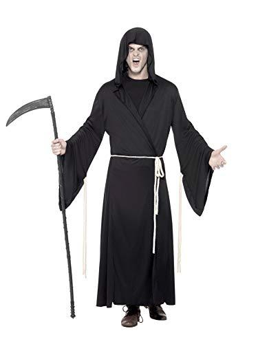 Smiffy's 29367M Grim-Reaper-Kostüm, M, schwarz (Grim Reaper Kostüm)