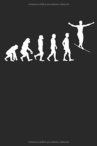 Evolution Trendsport Slackline: Notizbuch DIN A5 I Dotted Punkteraster I 120 Seiten I Sportart Trendsportart Freestyle Slacklinen Slackliner Seiltanz Balance