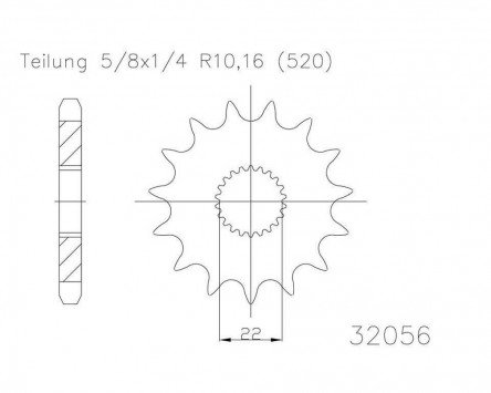 pinon-16-dientes-acero-serie-520-division-5-8-x-1-4