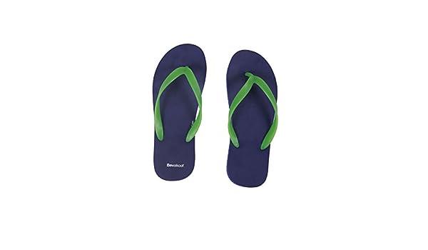 294f52426fec71 Bewakoof Men s Sundown Blue Plain Flip Flops Slippers  Buy Online at Low  Prices in India - Amazon.in