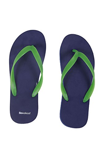 89ee5e764 Bewakoof Men s Sundown Blue Plain Flip Flops Slippers Best Deals ...