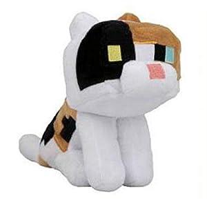 JINX 9294 Minecraft Calico Cat Felpa Negro Juguete de Peluche
