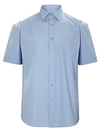 Mens Short Sleeve Premium Formal Oxford Shirts Sizes 14.5 to