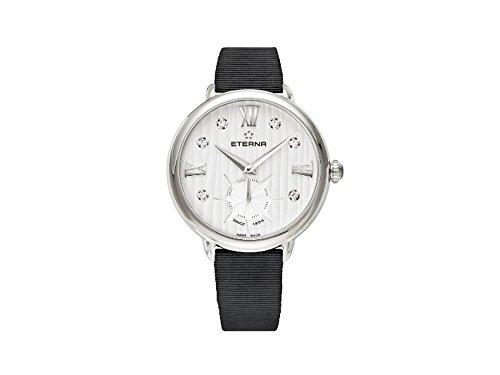 Eterna Lady Eterna Quartz Watch, Ronda 6004D, 34mm, 5 ATM, Diamonds, Black
