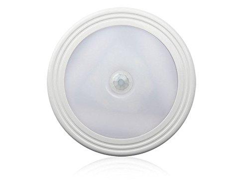 Preisvergleich Produktbild Räucherung LED Nightlight, KuGi batteriebetriebene LED Sensing Nachtlicht, Kleiderschrank, Flur oder auf dem Schreibtisch, etc (Warm Weiss)