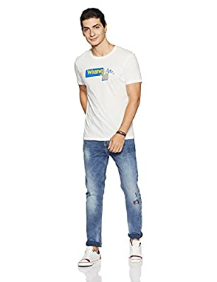 Wrangler Men's Solid Regular Fit T-Shirt