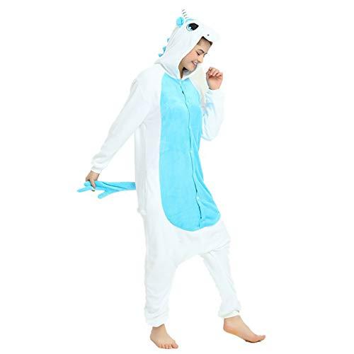 ShiyiUP Einhorn Schlafanzug Jumpsuit Erwachsene Kinder Pyjama Karneval -
