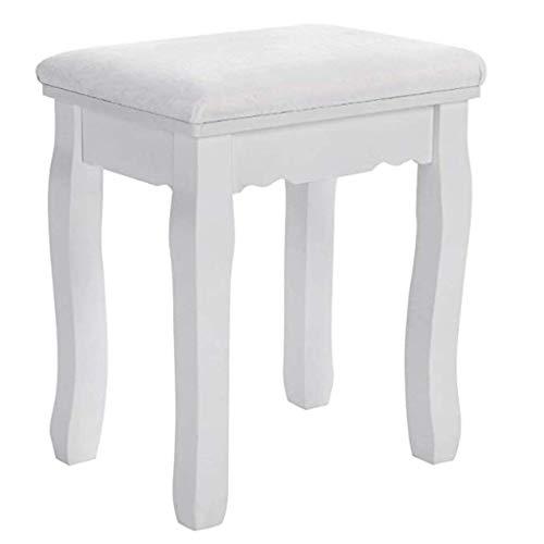 Modernes Design Akzent Stuhl Stoff Massivholz Hocker Rose Muster Schlafzimmer Schminktisch Stuhl Klavierstuhl Tragfähigkeit 130 kg RDS45W -