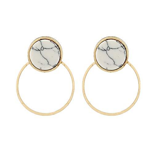 LIILGOD Einfache Damen Ohrringe Mode Anhänger Ohrringe Frauen Elegant Metall Lange Ohrringe Cocktail Party Festival Ohrringe Schmuck Unregelmäßige Form Acryl Ohrringe -