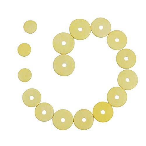 HshDUti - Juego de 16 almohadillas de repuesto para flauta (piel), amarillo