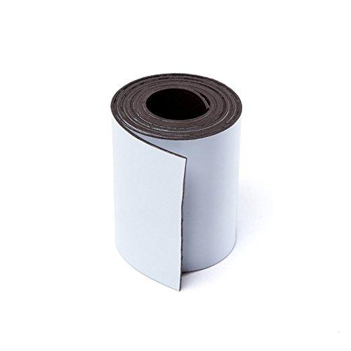 MTS Magnete Magnetisches Band für Schilder, zum Zuschneiden, 50mm breit weiß -