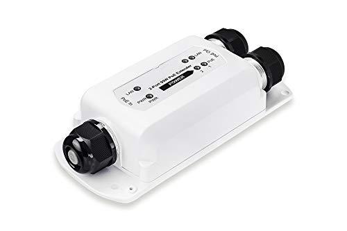 DIGITUS Outdoor PoE++ Extender Switch - RJ45 Fast Ethernet - 1 Port Input - 2 Port Output - Stromversorgung über PoE -