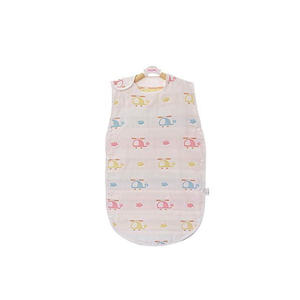 Saco de dormir para bebé, de muselina, para verano, viaje, 0,5 tog, 6 – 24 meses, 100% algodón suave blanco elefante…