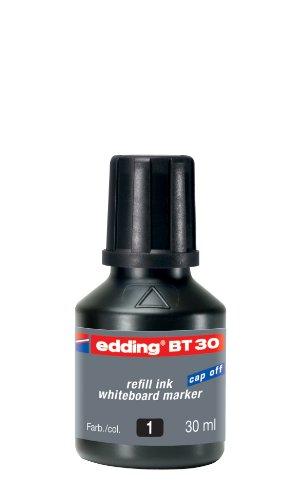Preisvergleich Produktbild edding BT30 Whiteboardmarker Nachfülltinte - Inhalt: 30ml - Farbe: schwarz - Tusche für Whiteboard-Stifte - Flasche mit Tropfendosierer