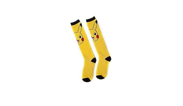 Einheitsgr/ö/ße Meroncourt Damen Pok/émon-Pikachu Kneehigh Socks Kniestr/ümpfe gelb 100 DEN