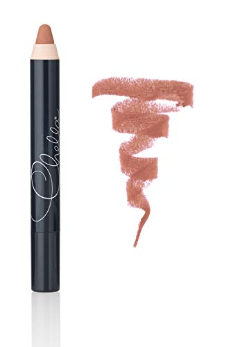 Chella Matte Lipstick Pencil - Glides on Smooth for Long Lasting Wear and Beautiful Color - Naughty Nude -