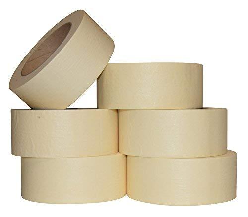 JAK Industrial 6 Rotoli – 5 cm Nastro Coprente per Uso Generico/Pittura – 60 Metri per Rotolo