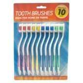 10 pieces of good quality toothbrushes by DENTACARE