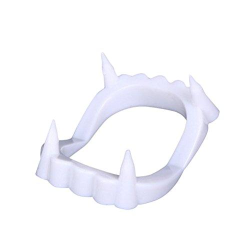 OULII 3 Stück Vampire Gebiss Zähne für Halloween Kostüm Party Scherzartikel