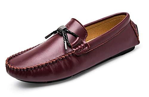 Uniform Scrub Top (XZHFC Spring Breathable Herren Peas Schuhe Scrub Driving Schuhe Casual Herrenschuhe,Red-39.5=250mm)