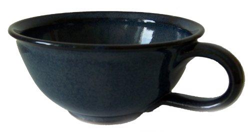 Töpferei Annett Fischer KS2 Kaffeeschale Keramik blau Kaffeeschale handgetöpfert Höhe 7 cm...