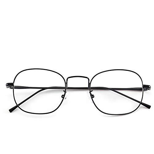 Yangjing-hl Box - Glasrahmen männlich Retro literarisch Glasrahmen Gezeiten Menschen Augenrahmen Spiegel weibliche Gläser Schwarze Rahmen