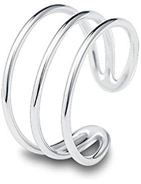 Fashmond Leicht Damen-Ring Silber 925 für Frauen Mädchen Kinder Offen und Verstellbar