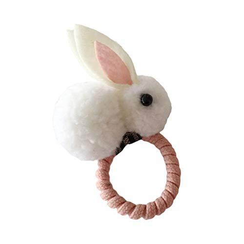 AMOSFUN Osterhase Kaninchen Ohren elastische Haargummi Pferdeschwanz Inhaber Haarschleife Haarschmuck Ostern Kostüm für Kleinkinder und Babys