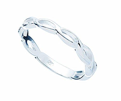 feiner, edler Flecht-Ring, Sterling Silber