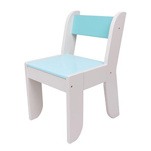 Labebe sedia per bambini 1-5 anni, legno massello, uso per la pittura/lettura/gioco di gruppo a scuola e casa, match tavolo di gufo arancione,regalo creativo compleanno - blu chiaro