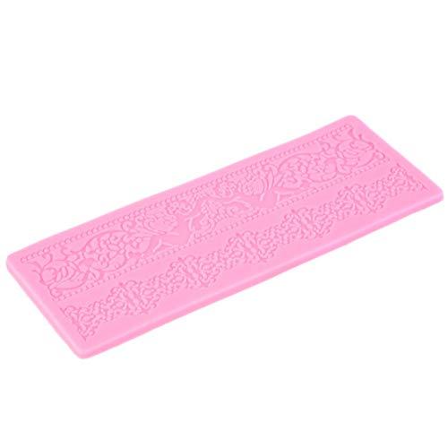 vige Rosa Silikon Flexible für einfache Entfernung Non-Stick Finish Spitze Silikon Fondant Prägeform Kuchen Gum Paste Dekorieren DIY Form Non-stick Finish