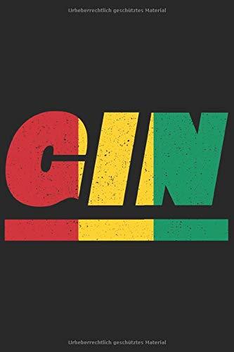 GIN: Guinea Tagesplaner mit 120 Seiten in weiß. Organizer auch als Terminkalender, Kalender oder Planer mit der guineanischen Flagge verwendbar (Schwein Terminkalender)