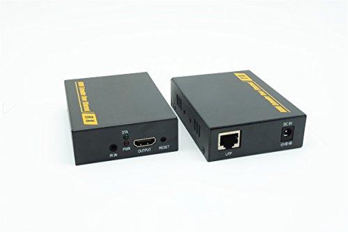 PWA-DT103-150m/490-Feet PWA-DT103KM-150m/490-Feet HDMI Extender (150m Signalübertragung (Ultra HD 1080p@60Hz) ) über CAT6/7 Ethernet-Kabel Router Powerline Gigabit Switch (USB Keyboard & Maus - Verbindung ,IR EDID) für Bewohner oder Geschäft