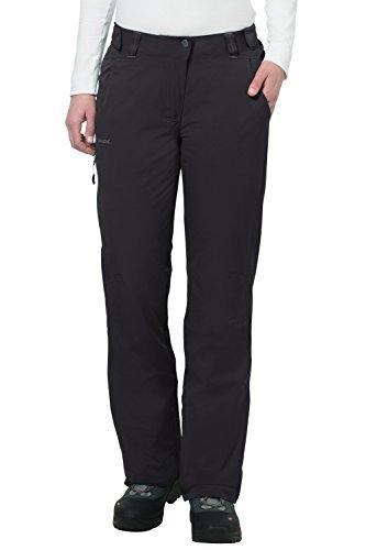 Vaude Damen Hose Craigel Padded Pants, black, 34, 04696 (Gefütterte Hose Frauen)