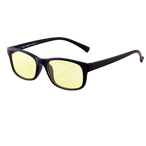 DUCO Gamer Brille Computerbrille Blaulicht Blendschutz Anti-Erschöpfung UV Schutzbrille für Smartphone Computer oder Fernseherbildschirm 8016 (Matt Schwarz)