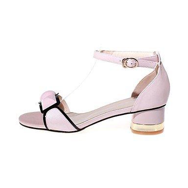 LvYuan Sandali-Ufficio e lavoro Formale Serata e festa-Comoda Club Shoes-Quadrato-Pelle-Rosa Bianco White