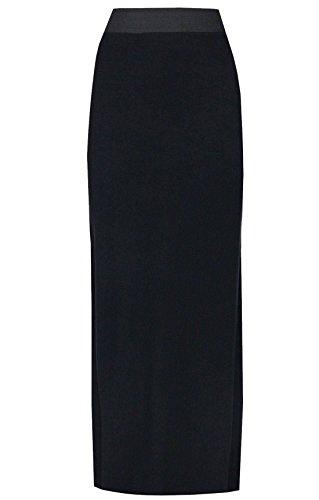Maxi jupe gypsy en jersey pour femmes de grandes tailles, robe stretch taille 44-54 royaume-uni Noir - Noir