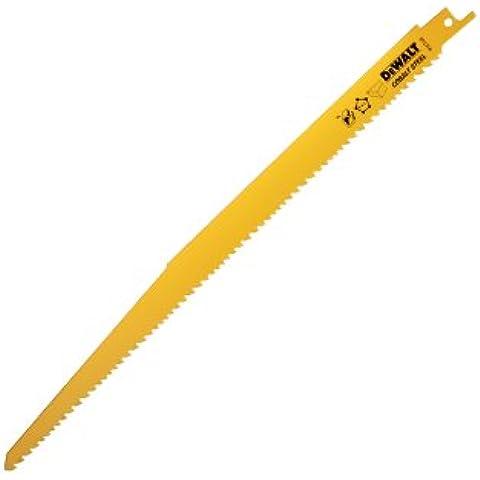 DeWalt DT2350-QZ - Hoja de sierra sable bi-metal, longitud: 305mm, paso de diente: 3.6-5.1mm, para cortes rápidos en madera con clavos y plásticos duros