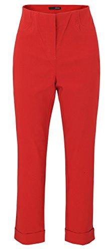 Stehmann Igor-680, sportive 7/8 Damenhose, in vielen weiteren Farben erhaeltlich, Größe 44, Farbe Rot