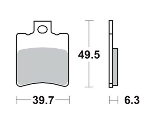 Pastiglie freno TRW MCB674EC per APRILIA SR 50 Replica 97- (anteriore)