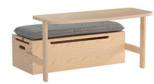 Svan Wooden Desk Chair Set W Toy Box Storage