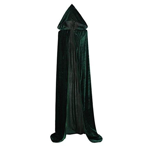Cosplayitem Unisex Mittelalterlicher Umhang mit Kapuze Langes Kap Halloween Weihnachts Kostüm - Kapuzen-renaissance-kleid