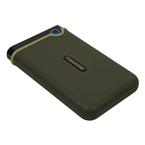 Transcend StoreJet M3 Anti-Shock 1TB externe Anti-Shock Festplatte (6,4cm (2,5 Zoll), 5400 rpm, 8MB Cache, USB 3.0) military-grün