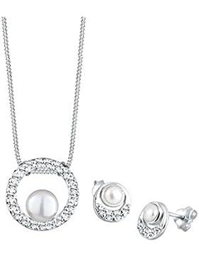 Perlu Perlen-Set bestehend aus Kette und Ohrringen