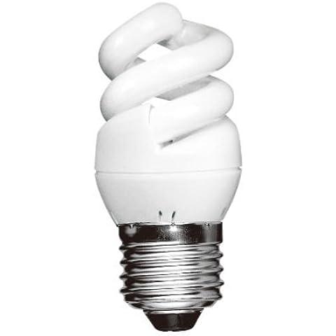 6500 K luz blanca lámpara de bajo consumo E27 gorra espiral de Long Life Lamp 5W=25 W x 2
