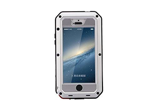 iPhone 5S Fall stoßfest Fall, Gorilla-Glas [Wasserdicht] Schneedicht Staub/Schmutz Beweis, Military Bumper Heavy Duty Cover Schutz für iPhone 5/5S & iPhone 5SE Case [10,2cm] silber silber (Iphone 5s Fällen, Gorilla-glas)