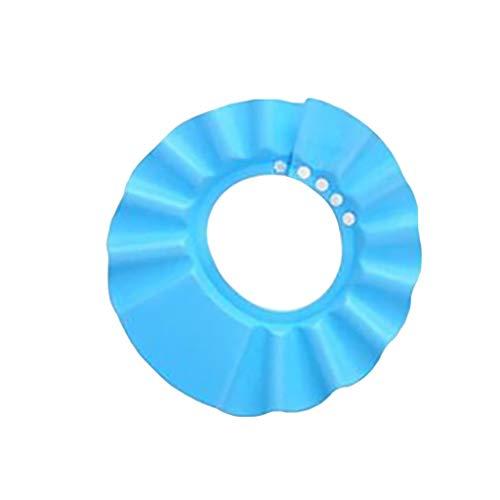 YusellYu_Mädchen Strampler Jumpsuit Yusell Baby Kinder Kind duschhaube für Haar waschen Bad weich wasserdicht schützen Schild Hut (Blau) -
