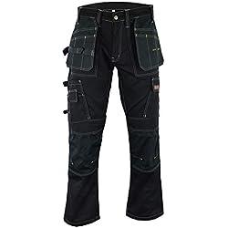 Hommes's Pro Pantalons de Travail Pantalons Cordura Genou Travail Pantalons Cargo Combat Travailleur Tailles comme Dewalt FR: 48/M (38W/31L Taille Fabrication)